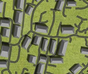 houses+roads