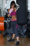 Jersey Shore cast members get their kicks in the gym