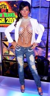 Jersey Shore J-Woww Jenni Farley at the MTV New Year party