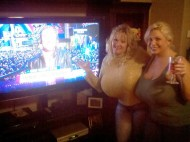 Claudia Marie and Kayla Kleevage Happy New Year Party