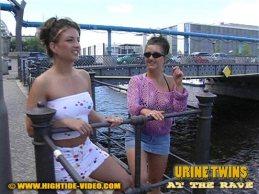 Urine Twins - Katja and Anja piss 1