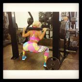 Nicole Coco Austin SQUAT 315 lbs