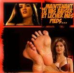 Salma Hayek foot fetish