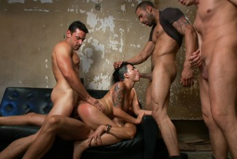 Eva Angelina Hardcore Gangbang by Crooked Cops - Kink-BoundGangBangs