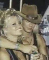 Pamela Anderson and Bret Michaels party