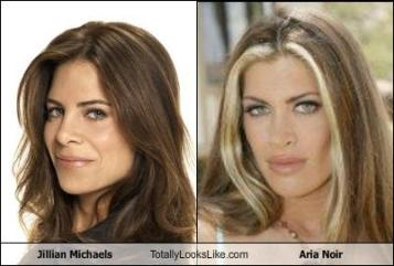 Aria Noir Jillian Michaels look-alike