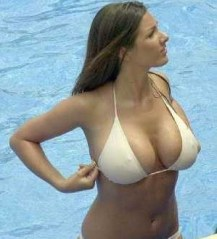 lucy-pinder-white-bikini-wet-in-pool