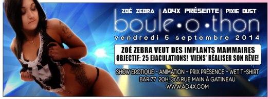 Zoe Zebra gangbang boule-o-thon