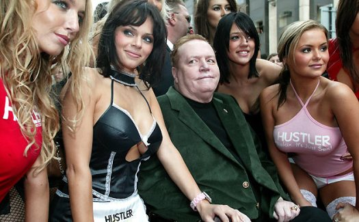 Larry Flynt smut peedler with employees