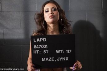 Jynx Maze LAPD mugshot arrest