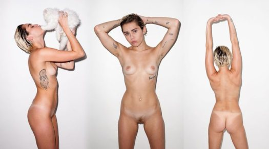 MILEY CYRUS fully frontal NAKED nude celeb