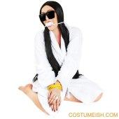 Bound and gagged Kim Kardashian Halloween costume