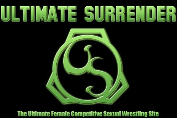 Ultimate Surrender logo female naked sexual wrestling