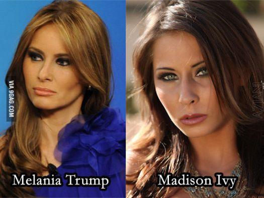 Madison Ivy Melania Trump look alike