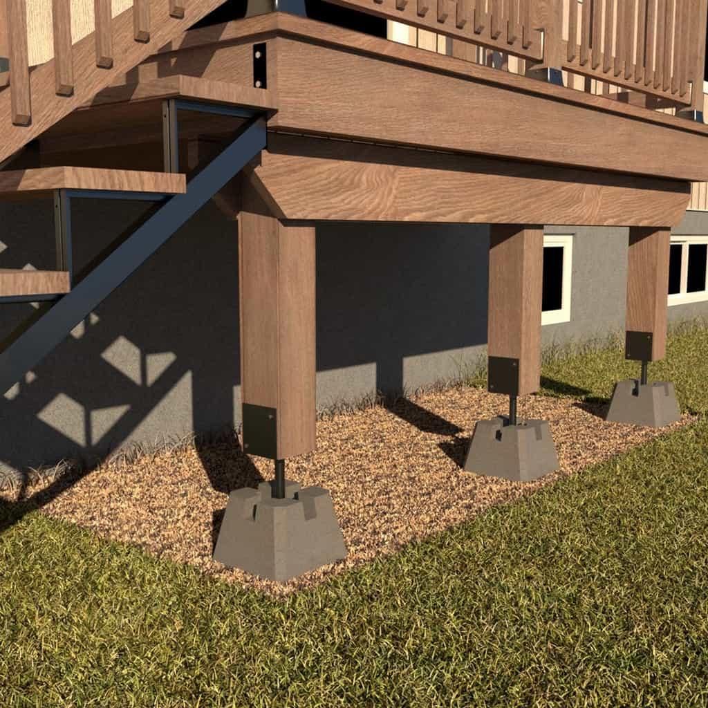 adjustable deck support 66 black