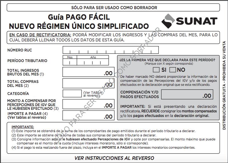 Instrucciones - Sunat