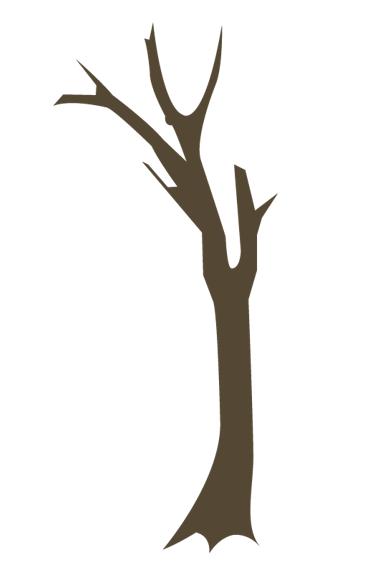 枯れ木3種(枯れ木、木、樹木、ツリー、枝、冬、枯れる、淋しい、散る、茶、ブラウン、植物、自然)