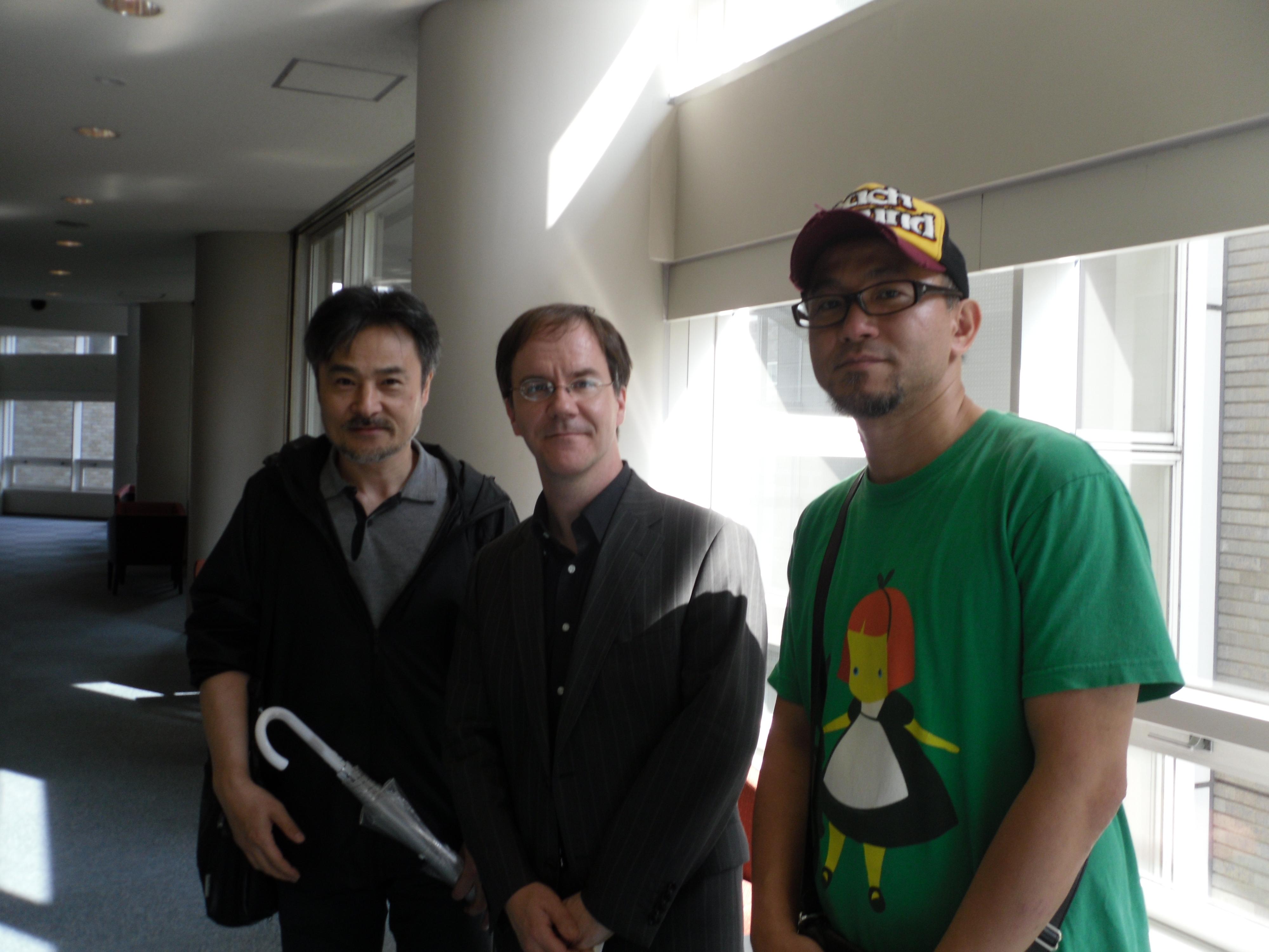 Kiyoshi Kurosawa, interpreter Aaron Gerow, and Shinji Aoyama