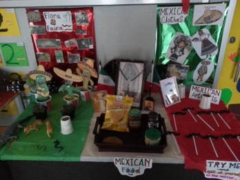 Our Mexican displays in front of our class