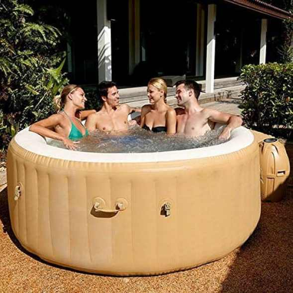 The Lay-Z-Spa Palm Springs may cost a little more than smaller alternatives such as the Miami Hot Tub. However, if you got the extra budget (around an extra £60) you get a lot more hot tub for your money with this Palm Springs Model.