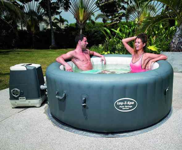 The Lay-Z-Spa Palm Springs HydroJet is probably the best inflatable hot tub available in terms of quality and massage experience.
