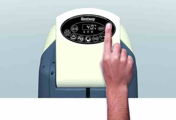 Lazy-Z-Spa Palm Springs HydroJet touch control panel is easy to use