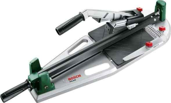 The Bosch PTC 470 Tile Cutter is packed with a range of useful features not seen on cheaper models that make for easy swift operation.  The titanium-coating on the blade is great for promoting durability of the blade while the steel clamping rail ensures secure positioning of the tile.