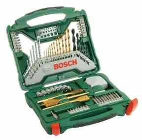 One of the best drill but sets we have seen which offers plenty of options, all the most common pieces included, a good choice for home DIY Jobs and lighter professional work.