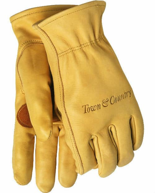 These Town and Country Leather Gloves are not too thick and thus allows for firmer grip of tools on the flip side though, there not 100% thorn proof and some could puncture through.