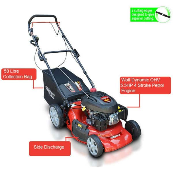 Frisky Fox PLUS 5.5hp Self Propelled Petrol Lawn Mower