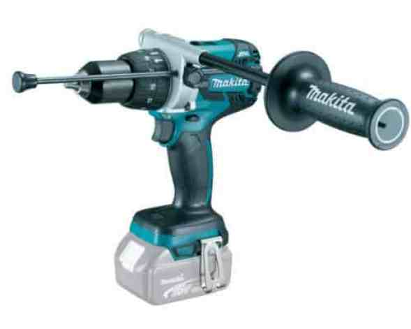 The Makita DHP481Z Brushless Hammer Drill is one of the best cordless hammer drills in this this review. We love that it is such a beast for such a manageable weight. This model has a powerful motor that is protected from the damages that are usually caused from overworking the drill on difficult materials.