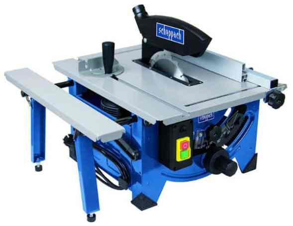 The Scheppach 8-inch Table Top Sawbench with it's Sliding Side Extension is a lightweight table saw designed for great mobility as well as minimal storage space.