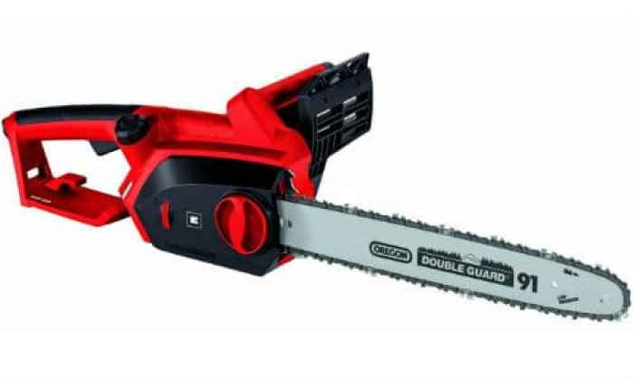 The Einhell GH-EC 2040 Electric Chainsaw is well balanced and has been ergonomically design for comfort. It makes light work of cutting branches up to around 15 inches thick, however I suspect it could probably cut through larger branches without too much effort.