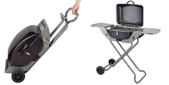 Crusader Portable Gas Barbeque BBQ Combo Wheel Trolley review