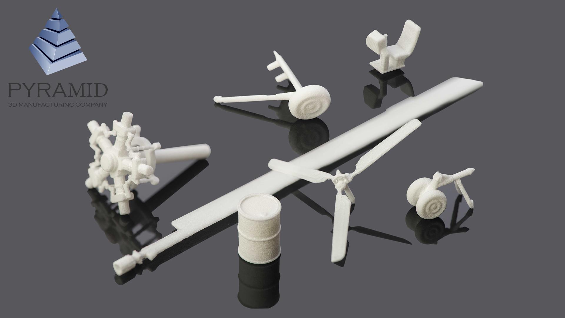3d печать деталей макета вертолета по SLS технологии