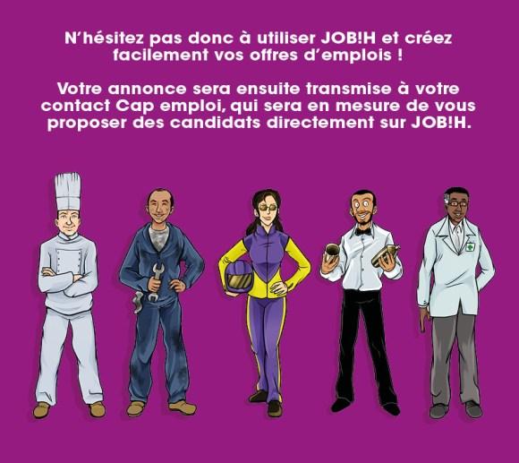 Les offres d'emploi sur JOB!H