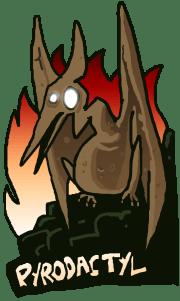 Pyrodactyl Logo, Portrait