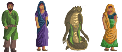 Some sprites from the game
