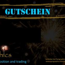 Feuerwerk online kaufen von Pyrographics Feuerwerkshop - Gutschein