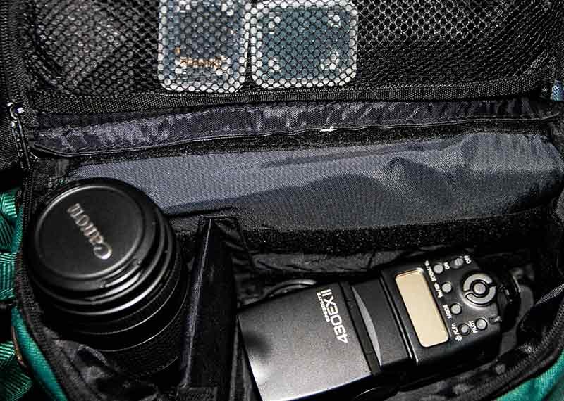 Fotozubehör und Kamera sollen sicher in der Fototasche liegen