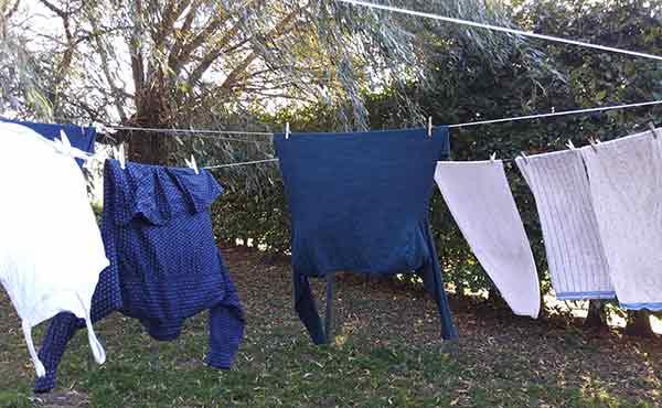 Frisch gefönt: Wäsche auf der Wäschleine.