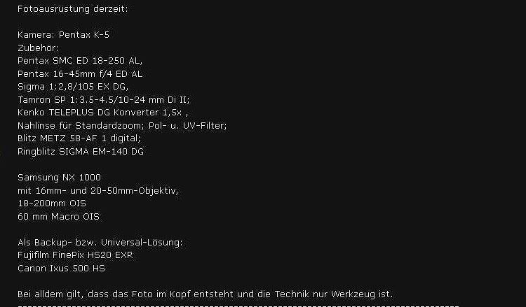 Beliebt in Fotogemeinschaften: Die Besitzliste im Profil.