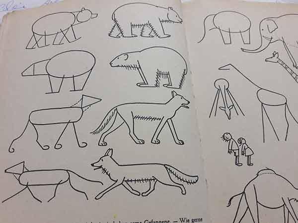 Wie aus Geometrie Tiere werden: Hans Witzig und seine Zeichenanleitung.