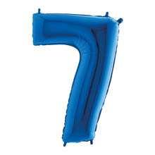 Palloncino mylar blu 1 mt Numero 7