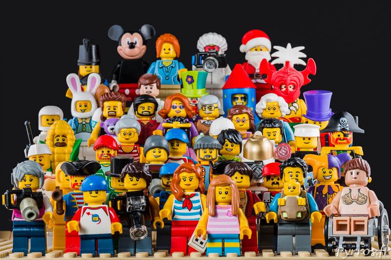 une collection de minifigs lego pour pyrros fr
