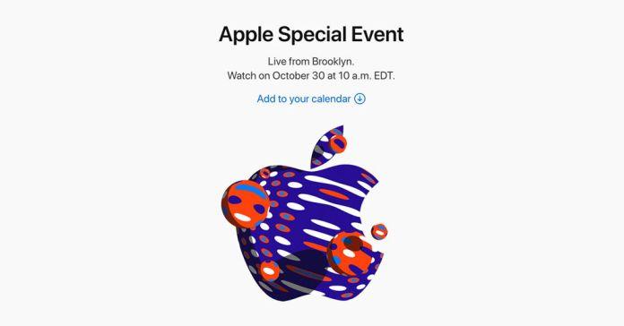 el iPad de Apple y Mac 30 de Octubre de lanzamiento de invitación