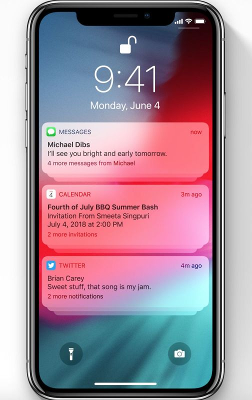 iOS 12 fecha de lanzamiento y nuevas características: Agrupan las notificaciones