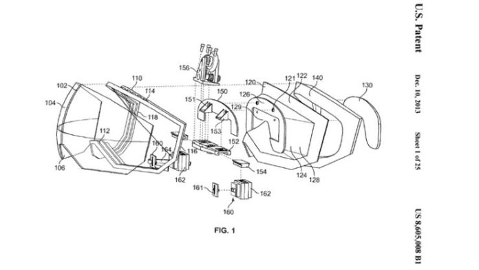Apple AR & VR: las patentes de Apple VR pantalla
