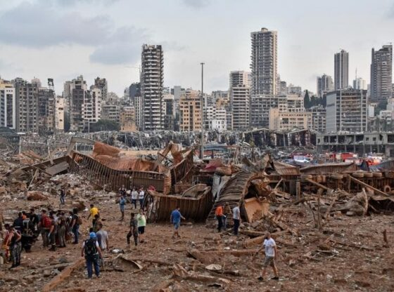 Imágenes muestran antes y después de la explosión en Beirut