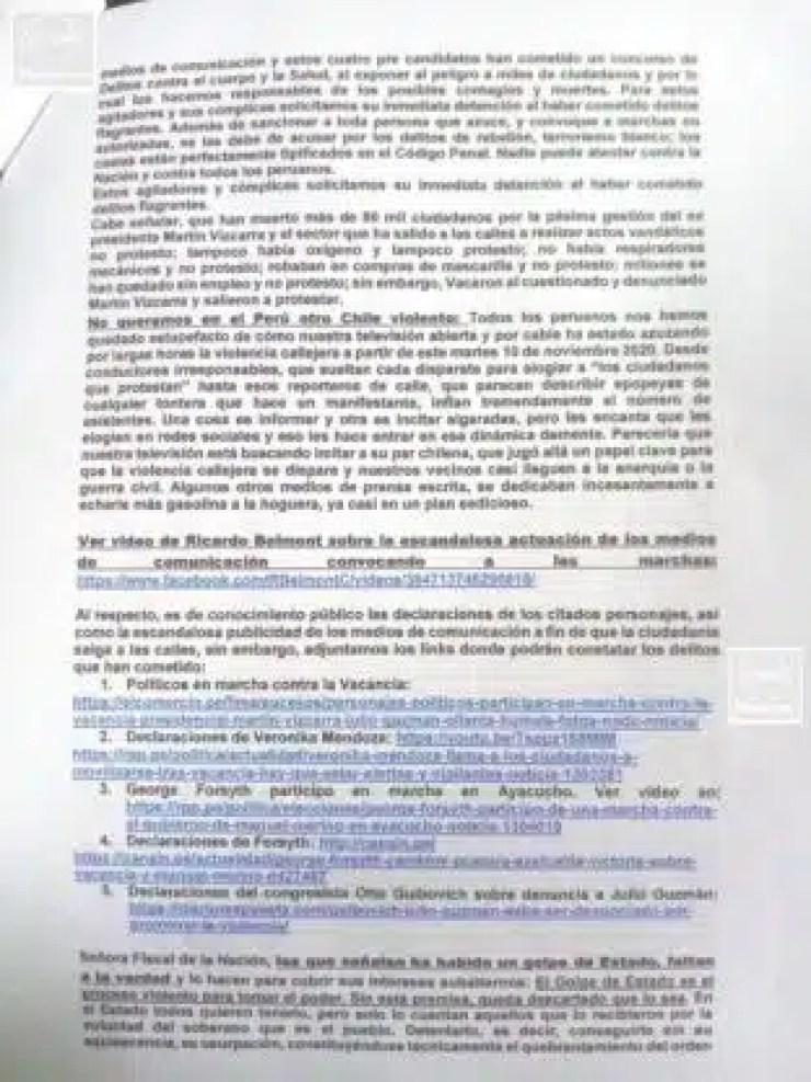 Denuncia Penal contra dueños de Medios 4